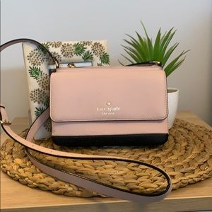 Leather pink and black Kate Spade purse!